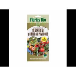 Бял холотропен капан с лепило за плодови и листни мухи, оси и зелена миризлива дървеница по доматите, Flortis Bio – 5 бр.