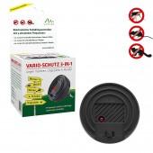 Dispozitiv anti țânțari, gândaci, șoareci, șobolani, jderi,  3 în 1, 40 de mp, Gardigo