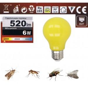 Bed LED cu lumină invizibilă pentru insecte, Bec anti țânțari, muște