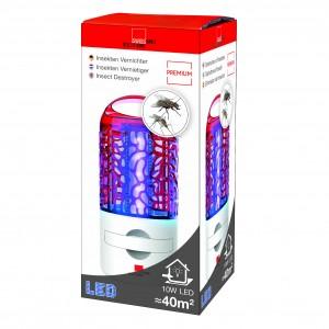 Lampă anti insecte (muște, tânțari, molii), LED, 10 W 40 de mp, Swissinno