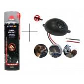Set: Spray Motip Cable Protect 500 ml + Aparat cu ultrasunete împotriva rozătoarelor pentru autovehicule, Gardigo