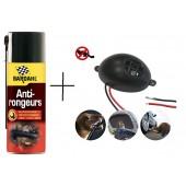 Set: Spray Bardhal 400 ml + Aparat cu ultrasunete împotriva rozătoarelor pentru autovehicule, Gardigo
