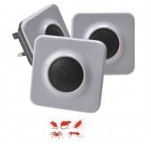 PEST REPELLER Slimline 1000 cu ultrasunete pentru combaterea rozătoarelor și insectelor târâtoare pentru încaperi cu suprafață de 93 mp- 3 buc. În ambalare
