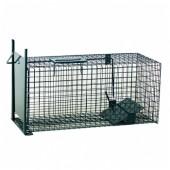 Capcană umană (cușcă) cu placă pentru  jderi, dihori, pârși, iepuri, șobolani, pisici sălbatice - 60x23x23 cm