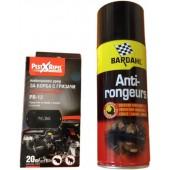 Set: Spray Bardahl 400 ml + Aparat cu ultrasunete împotriva rozătoarelor pentru autovehicule 20 de mp