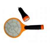 Paletă electrică de muște cu încărcător + lanternă - 2 în 1