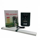 Dispozitiv solar cu ultrasunete și lumină LED pentru alungarea câinilor și pisicilor, până la 100 mp, Gardigo