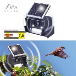 Aparat de alimentare solară anti păsări (ciori, vrăbii, rândunele și alte păsări mici), Gardigo